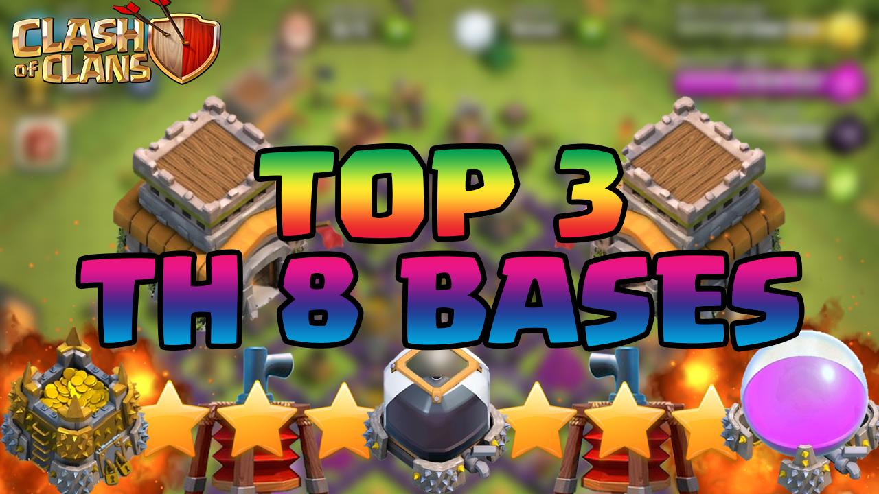 Clash Of Clans Best Town Hall 8 Th8 Defense Strategy Farming War Trophy Hybrid Base Design 2015 Clash Of Clans Videos
